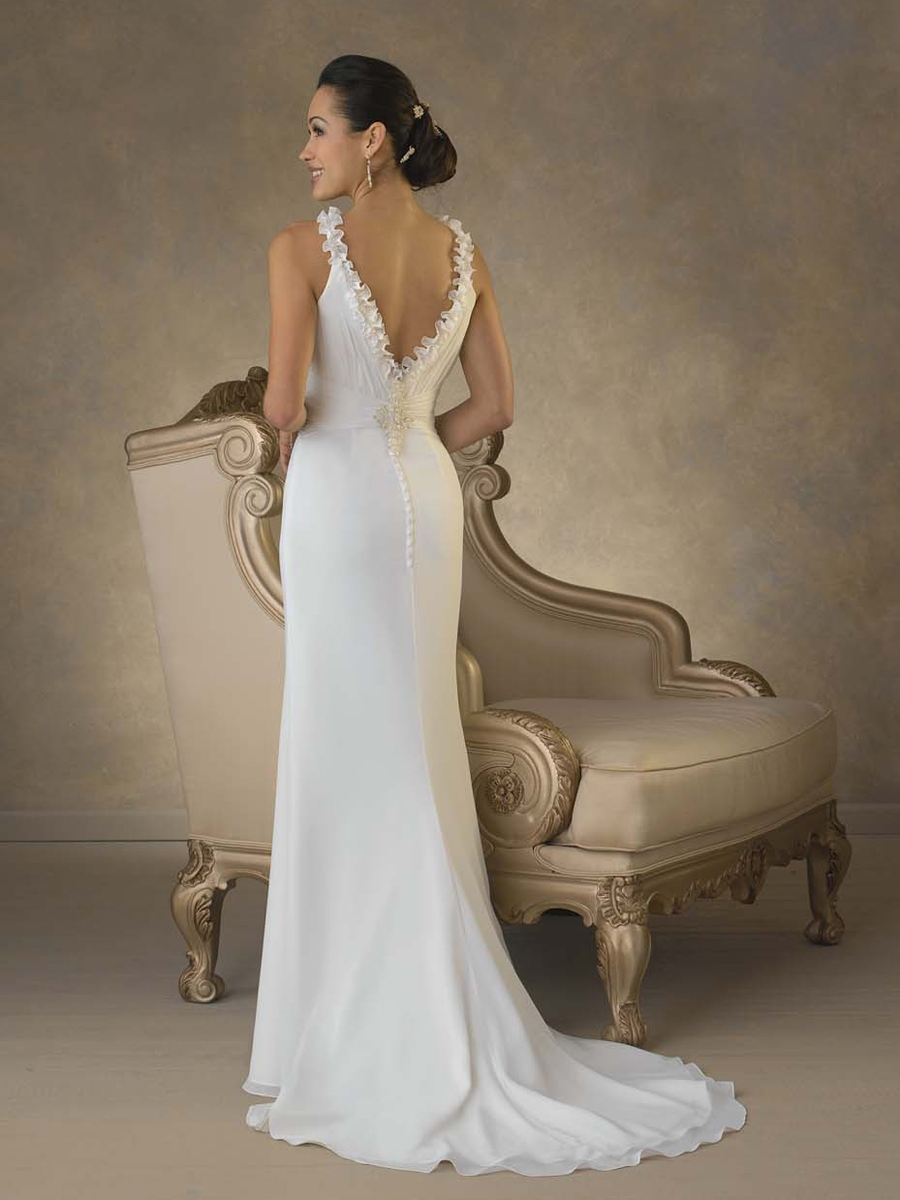 Fabulous Chiffon Scoop A-Line Wedding Dress