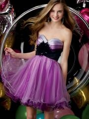 2012 Prevailing Short-length Cocktail Dress Characterized with Sweetheart Feather Bodice