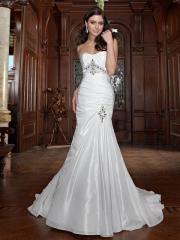 A Chic Trumpet Beautiful Wedding Dress