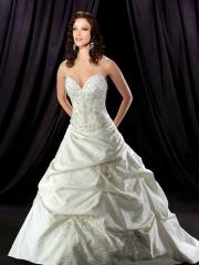 Ball Gown Sweetheart Cathedral Train Satin Taffeta Wedding Dress