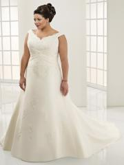 A-Line With Off-The-Shoulder Neckline Elegant Wedding Dress