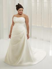 A-Line with Strapless Neckline Plus Size Wedding Dress
