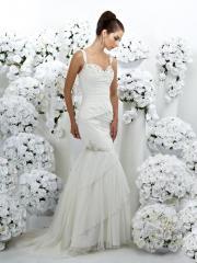 A Mermaid in Natural Waistline Elegant Wedding Dress