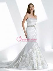 A Mermaid with So Luxurious Applique Decoration Wedding Dress