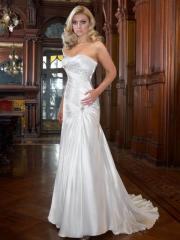 A Trumpet with Beadings on Bodice Wedding Dress