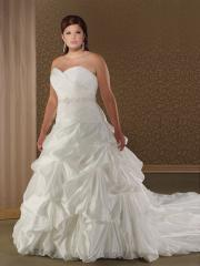 Ball Gown Sweetheart  And Strapless Neckline Wedding Dress