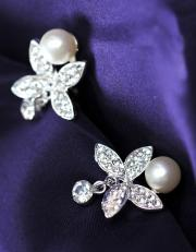 Beautiful Bridal earrings  in Princess-style