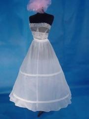 Beautiful Embroidered A-line Wedding Dress Pannier