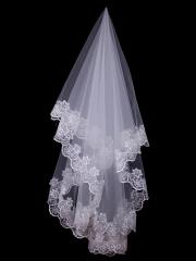 Beautiful White Lace Tulle Veil