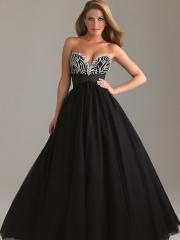 Best Seller 2012 Sweetheart Rhinestone Bodice and Black Tulle and Satin Skirt Quinceanera Gown