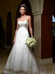 Breathtaking Princess Sweetheart Embroidery Gown of Floral