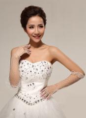 Bridal fingertips long Lace Bridal Gloves