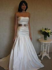 Captivating Strapless Trumpet Gown of Fastened Band