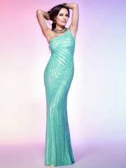 Charming Floor-length One-shoulder Sequined Evening Party Dress