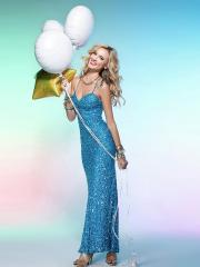 Chic Ankle-length Spaghetti-straps Sequined A-line Evening Dress