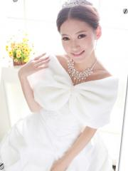 Chic Faux Fur Wedding Shrug with Ruched Details Wedding Wraps