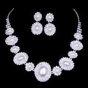 Chic Pure White Alloy Bridal Jewelry Set