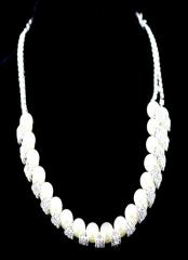 Chic Pure White Alloy Bridal Necklace with pearls