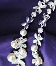 Classic Bridal Rhinestone Chandelier Necklace