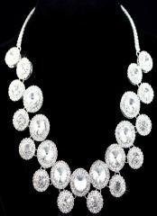 Classic Rhinestone Chandelier Stunning Necklace