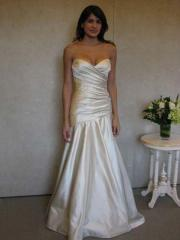 Couture Sweetheart Crisscross Bodice Gown of Trumpet Shape