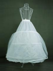 Cute Floor-length Double-layered Ball Gown Wedding Dress Pannier