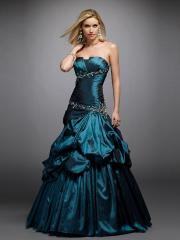 Elegant A-line Silhouette Strapless Neckline Sequined Accented Pick-up Skirt Quinceanera Dresses