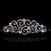 Elegant Czech Wedding Tiara with Rhinestones
