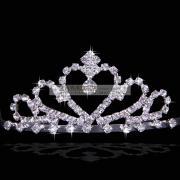 Elegant Princess Wedding Headpiece with Rhinestones