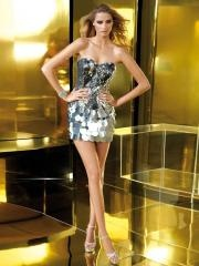 Elegant Short Length Dress with Sweetheart and Sequined Bodice for Modern Taste
