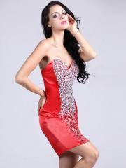 Elegant Short-length Sweetheart Homecoming Dress with Shinning Rhinestones
