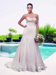 Empire Sweetheart Beaded Gown of Embroidery and Floral