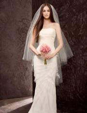 Exquisite Modern Tulle Veil with Multi-seams