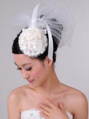 Fairytale Multiple Layered Tulle Short Veil with Pearls