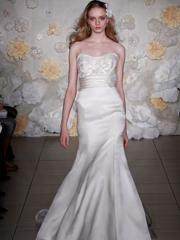 Fairytale Sweetheart Satin Wedding Dress of Applique and Band