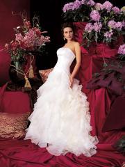 Fairytale Tiered Organza Layer Gown for Garden Wedding