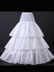 Fancy Three-layered Satin Bridal Dress Petticoat