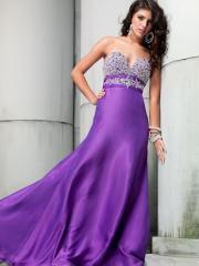 Fasinating Floor-length Sweetheart Rhinestoned Bodice Chiffon Evening Dress