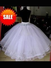 Fasinating Layered Ball Gown Wedding Dress Petticoat