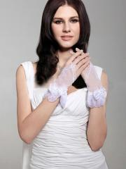 Fingerless Wrist Length Lace Bridal Gloves