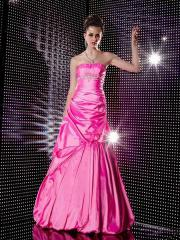 Flattering A-line Silhouette Strapless Sequined Band Accented Bubble Hemline Quinceanera Dresses