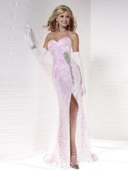 Glamorous Floor-length Sweetheart Sequined A-line Dress