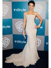 Glamorous Strapless Sweep-train Evening Dress in Pure White