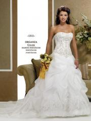 Gorgeous Ball Gown Strapless Satin Wedding Dress