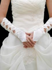 Gorgeous Fingerless Elbow Length Satin Bridal Gloves