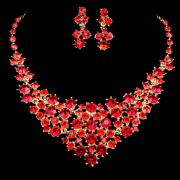 Gorgeous Red Diamond Bridal Jewelry Set