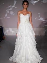 Gorgeous Sweetheart Chiffon Gown of Ruffled Skirt