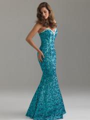Graceful Floor-length Sweetheart Sequined Mermaid Dress