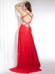 Halter Hollow Floor-Length Homecoming Dress with Embroidered