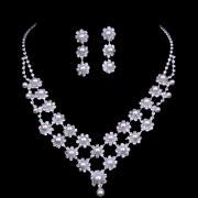 High Quality Czech Rhinestone Wedding Set with Pearls